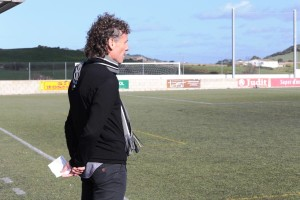 Luis Elcacho, técnico del Formentera, durante un encuentro.