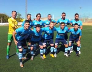 Once inicial del Ciudad de Ibiza en el partido de ida ante el Sineu.