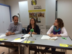 Joan Carles Palerm,  Flor Dell'Agnolo y Sonia Jofré, hoy en ruesa de pensa.
