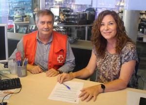 Creu Roja i Sant Antoni han firmat avui un conveni.