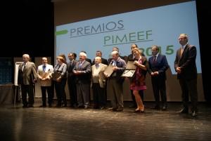 Imagen de los premiados en la gala del pasado año.