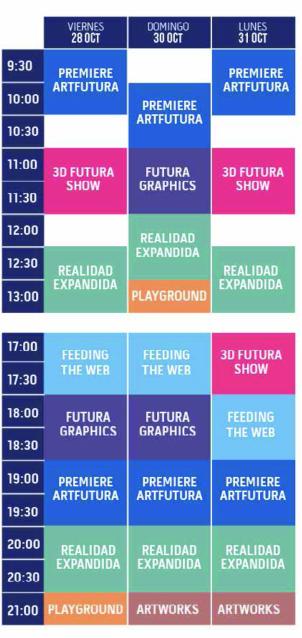 Los horarios de los pases públicos del festival.