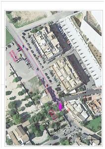 Mapa de afecciones en las calles por las obras de acceso a Jesús.