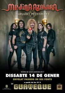 Cartel promocional del concierto de Medina Azahara.