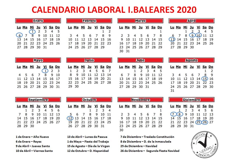 Ibiza Calendario 2021 El calendario laboral de festivos en Baleares y por municipios de