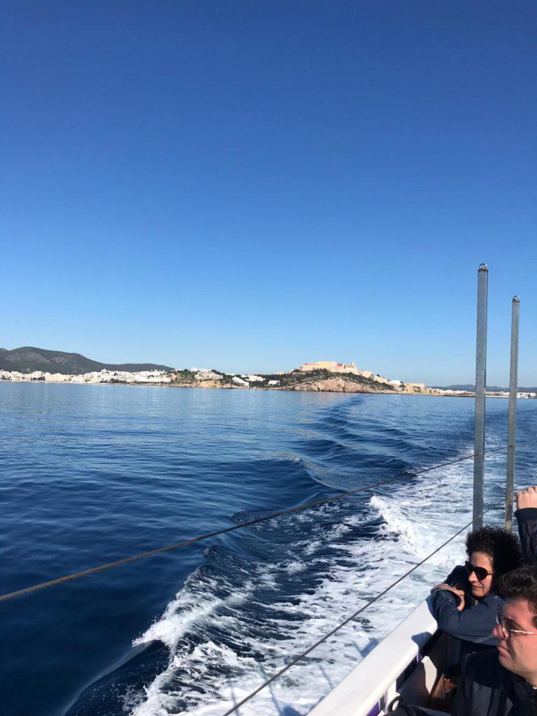 Puerto de Ibiza desde un barco de Aquabús