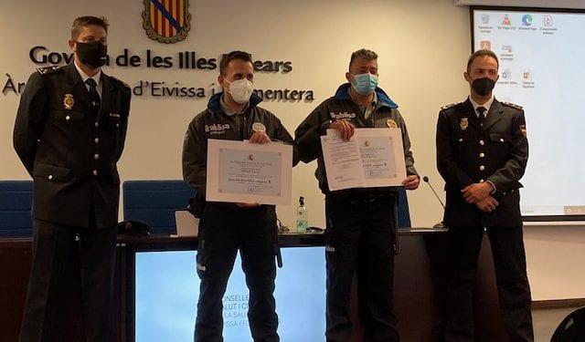 La Policía Nacional reconoce la labor de la seguridad privada para evitar agresiones al personal sanitario de Ibiza